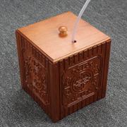 花梨实木茶具茶桶 茶道配件花梨茶水桶垃圾桶茶渣桶茶盘排水茶桶