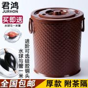 君鸿塑料茶水桶茶渣桶 功夫带盖加厚废水桶茶盘排水茶道零配茶具