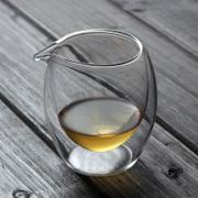 君鸿 加厚玻璃公道杯耐高温分茶器双层茶海功夫耐热玻璃茶具配件