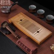 君鸿竹茶盘茶具储水茶台小号茶海储水功夫茶具小型茶托竹制干泡台