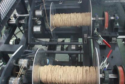 纸绳机圈纸操作过程