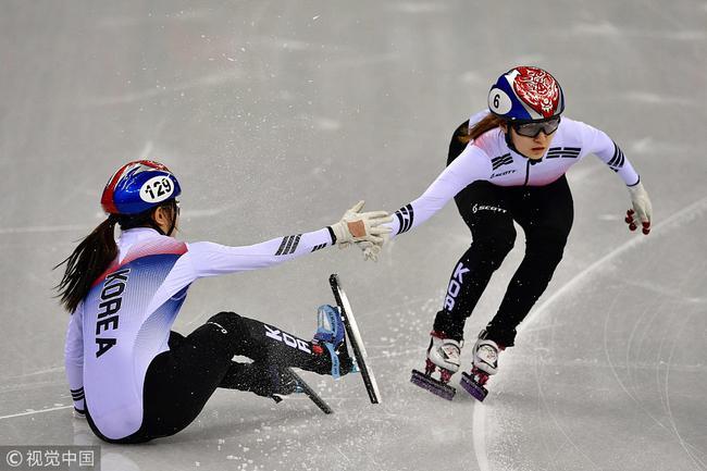韩国队摔倒仍打破奥运纪录