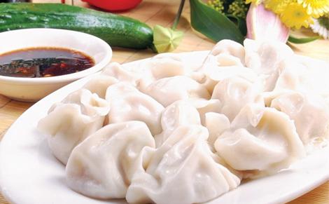 美食饺子背景图片素材
