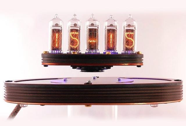 超酷的磁悬浮数码时钟!可你能看懂时间吗?