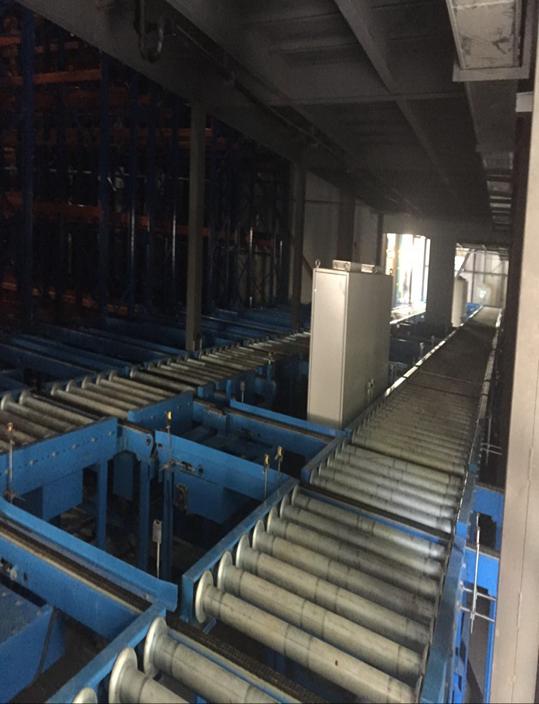 河南永达道口食品有限公司智能工厂物流系统中的自动化立体冷库内景图2