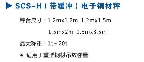 SCS-H(带缓冲)电子钢材秤