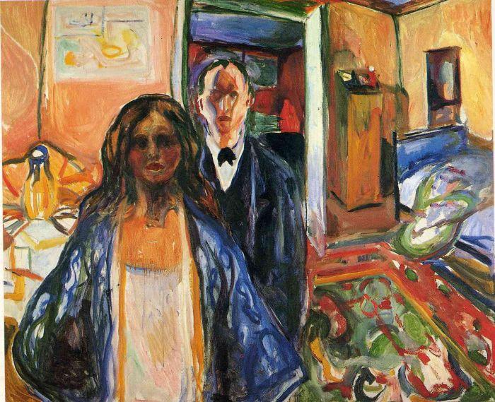 爱德华·蒙克 《 画家与他的模特》