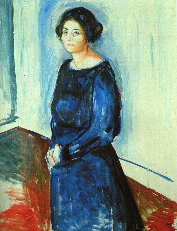 爱德华·蒙克 《蓝衣女子》