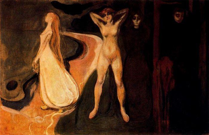 爱德华·蒙克 《女人的三个阶段(斯芬克斯)》
