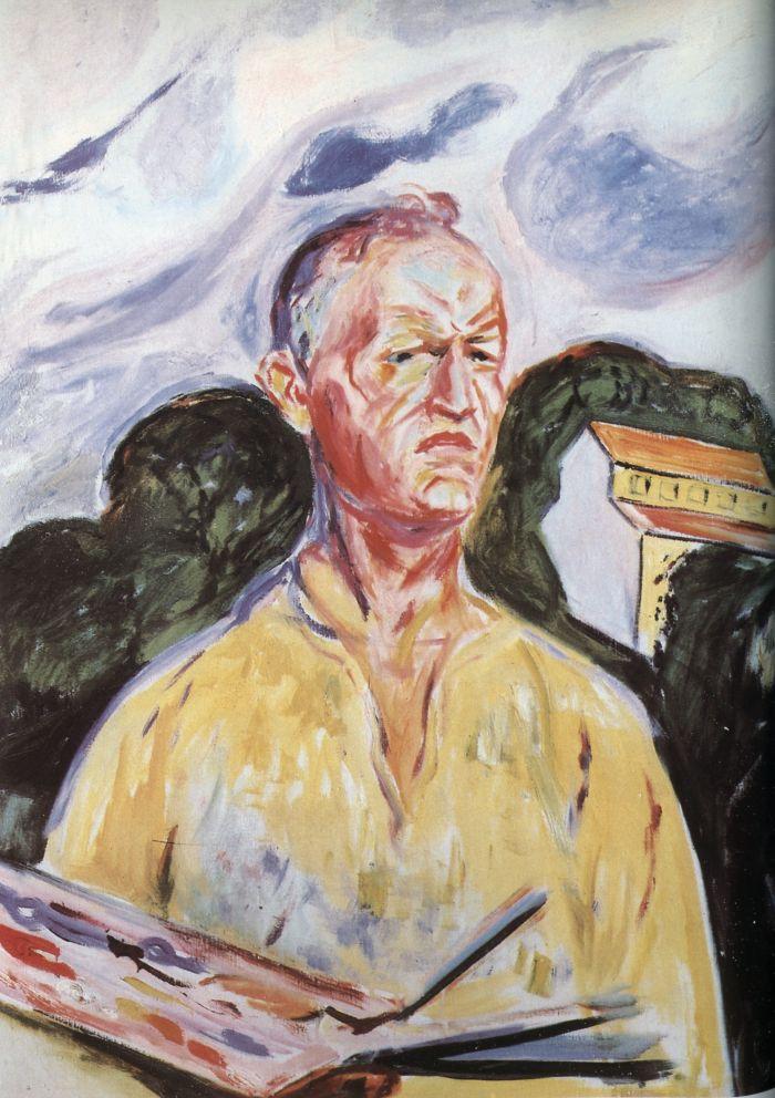 爱德华·蒙克 《在埃克里的自画像》