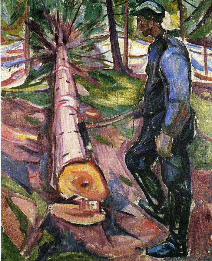 爱德华·蒙克《 伐木工人》