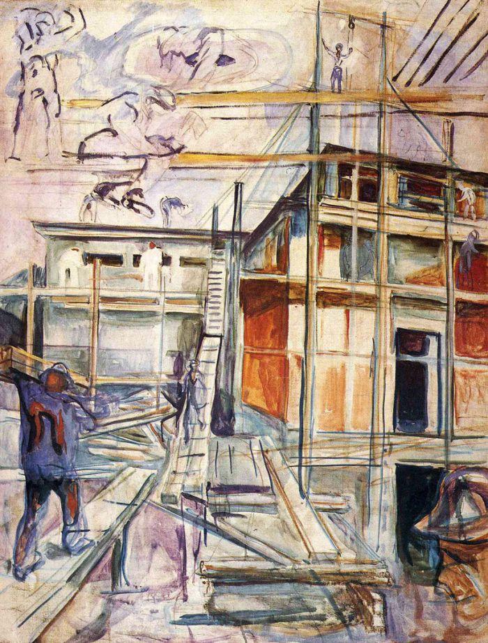 爱德华·蒙克《 建造冬之画室》