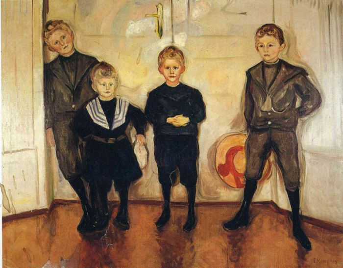 爱德华·蒙克《 林德先生的四个儿子》