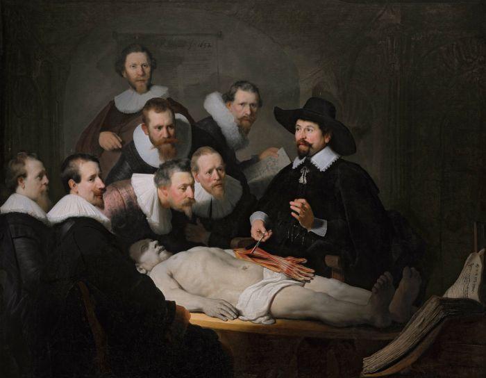 伦勃朗《杜尔博士的解剖学课》