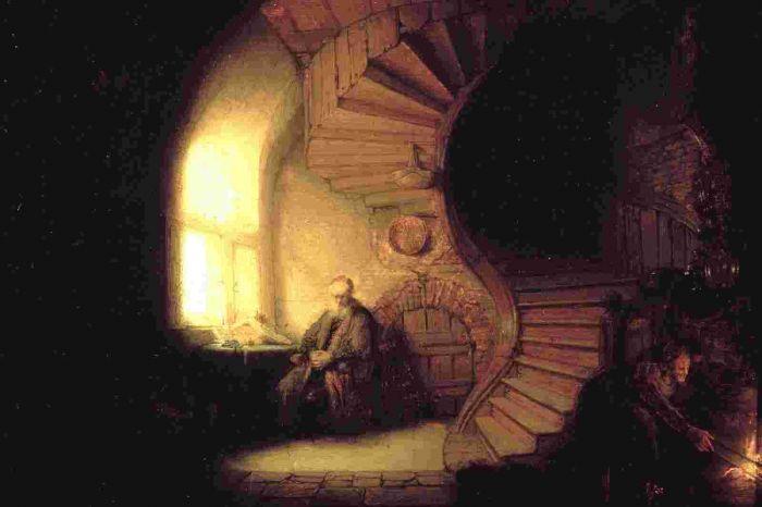 伦勃朗《 沉思的哲人》