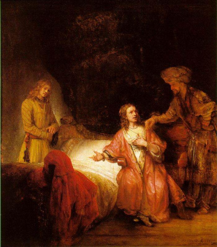 伦勃朗《 被波堤乏之妻指责的约瑟》