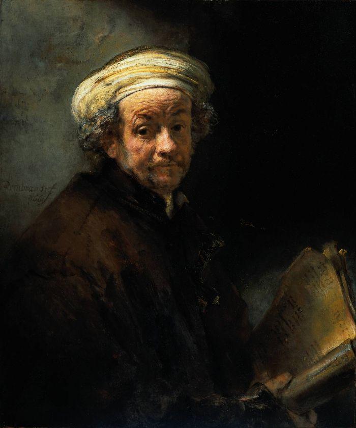 伦勃朗《 扮成使徒保罗的自画像》