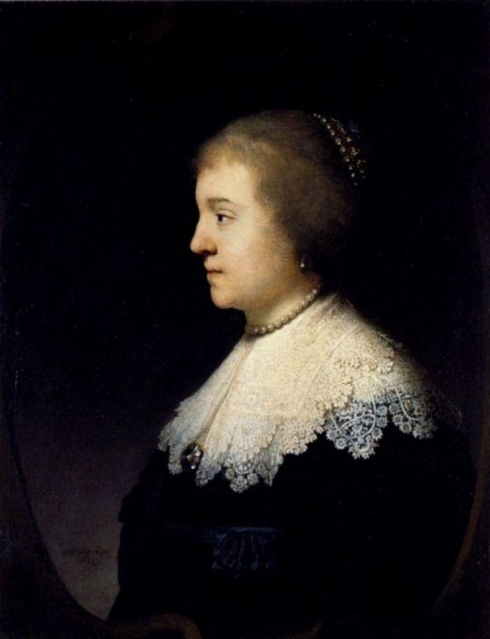 伦勃朗《 阿玛利亚·冯·索姆斯的肖像》