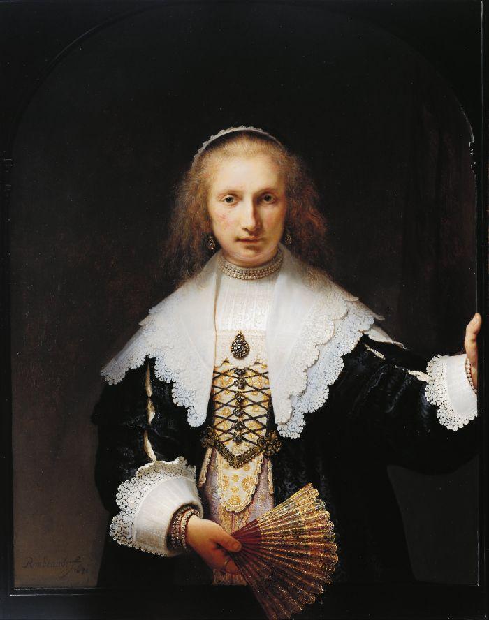 伦勃朗《 阿加莎·巴斯的肖像》