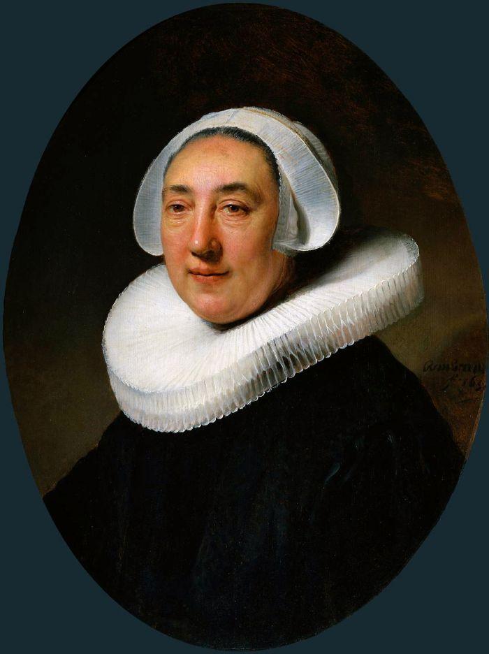 伦勃朗《 海耶·冯·克雷伯格的肖像》