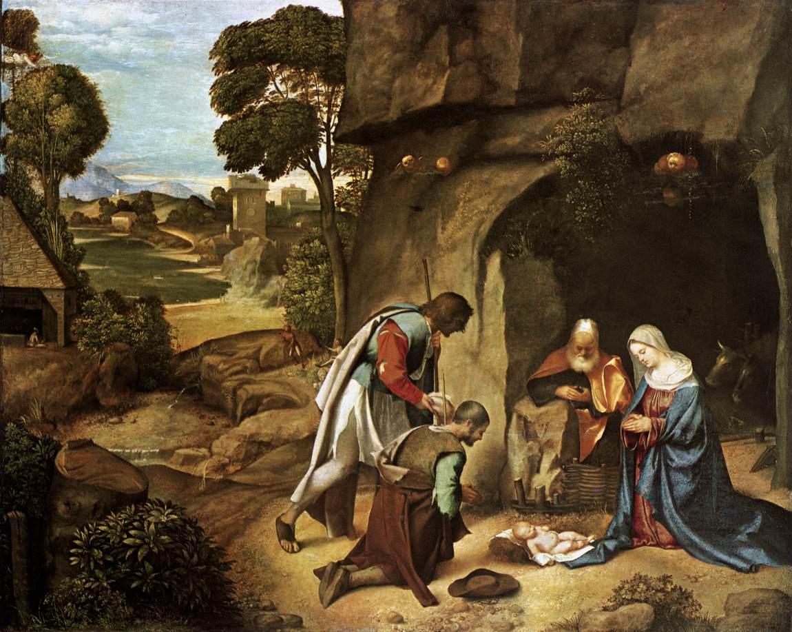 乔尔乔内《牧羊人的崇拜》