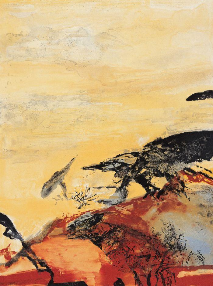 华裔法国画家 赵无极作品选粹(现代抒情抽象派) - 潮河边人 - 潮河边人博客