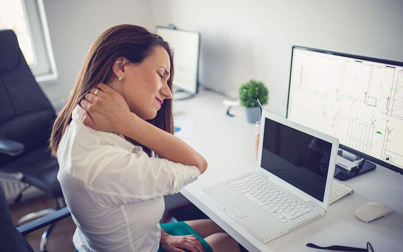 工作不适当引起颈椎不舒服