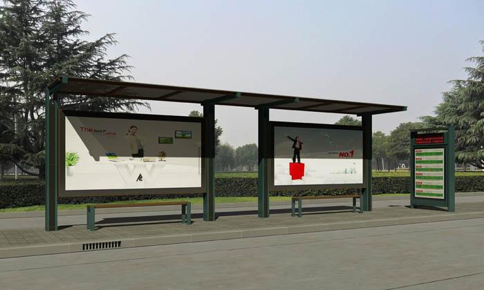 绿色系现代候车亭.jpg