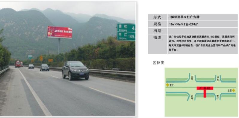 重慶高速路T牌廣告