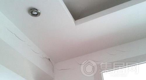 石膏吊顶容易出现开裂现象