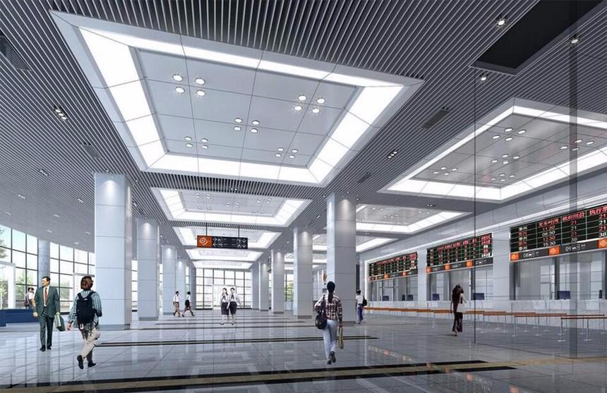 深圳北站铝方通吊顶案例