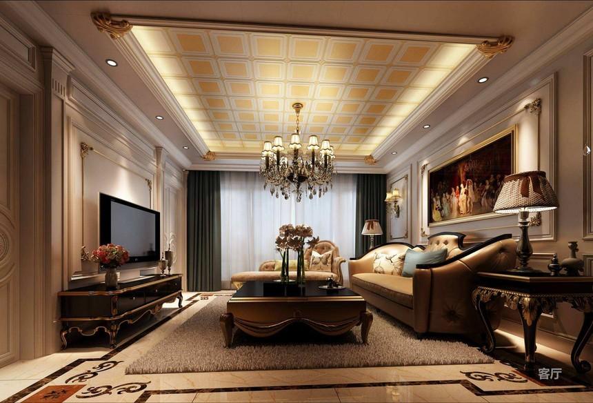 客厅铝扣板吊顶案例