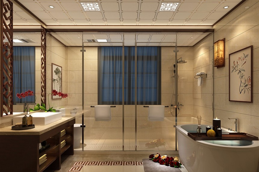卫生间铝天花吊顶效果图