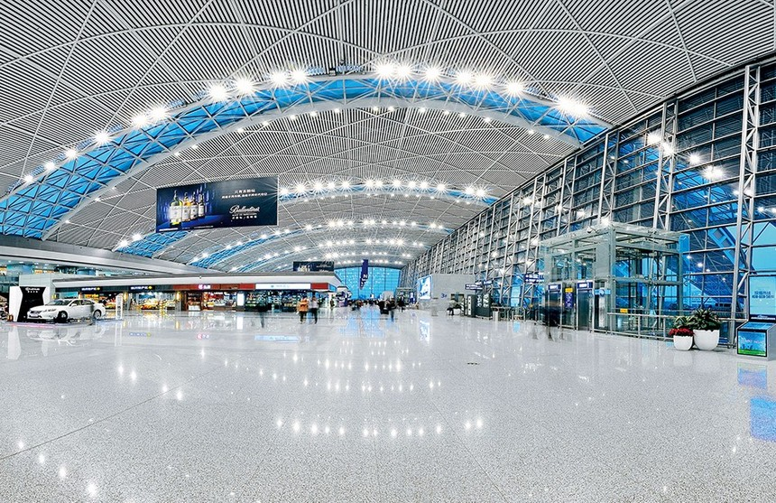 广州南站铝天花吊顶展示