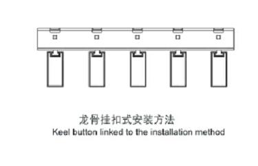 龙骨挂扣式安装方法