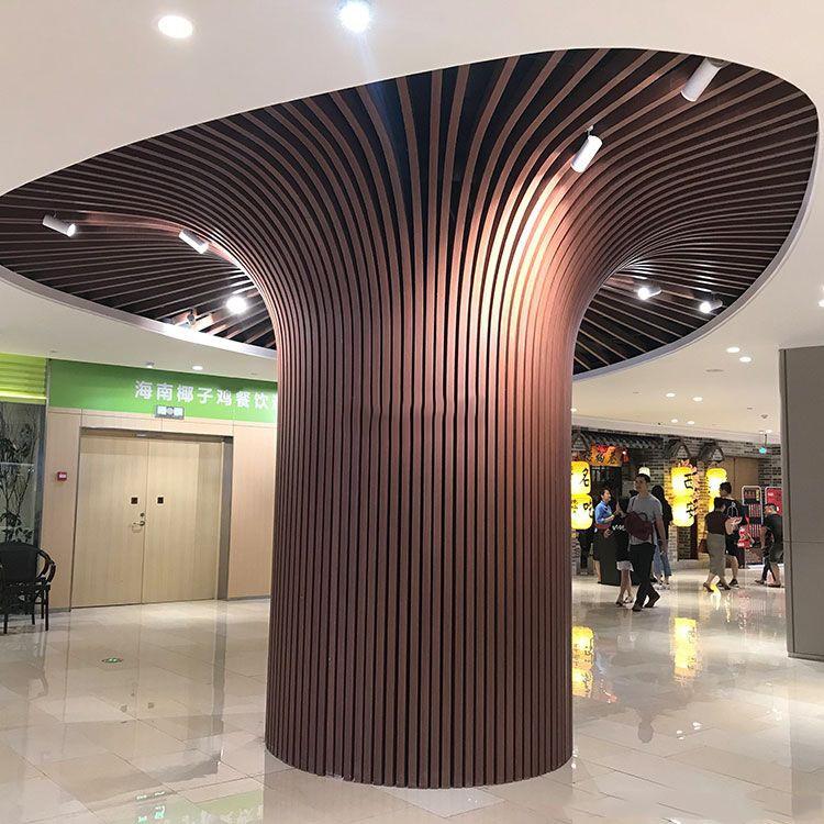 铝方通墙柱装饰效果