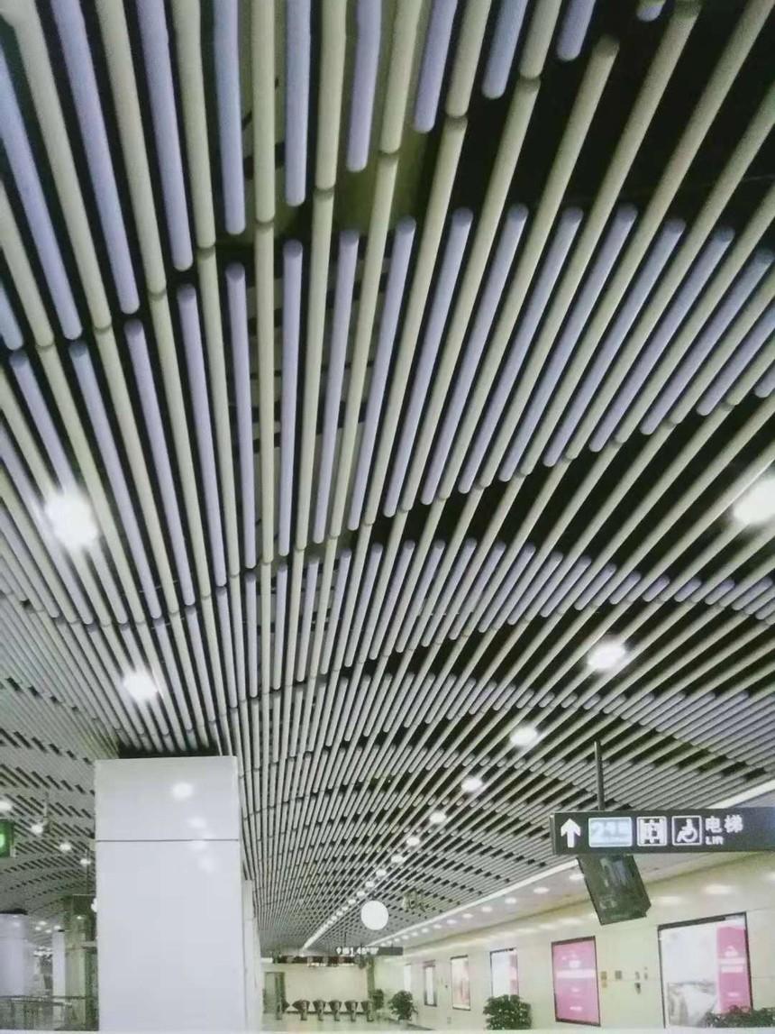 圆管铝方通吊顶效果展示