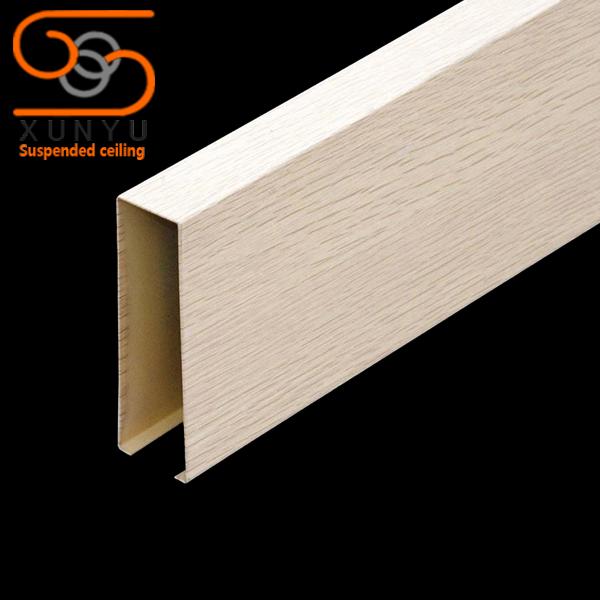 天然竹皮木纹铝方通