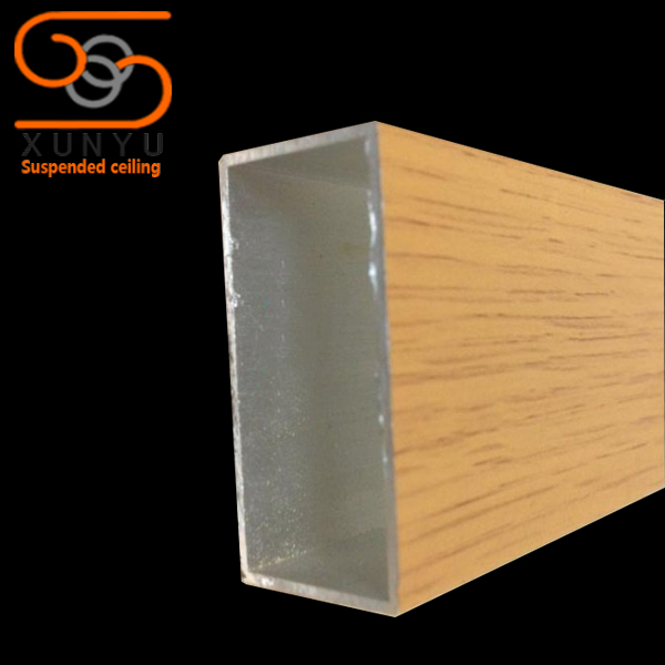 天然竹皮木纹方正铝方通