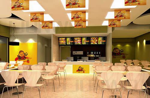 白色简洁快餐店装修效果图