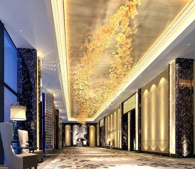 酒店走廊豪华装修效果图