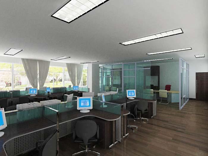 办公室劣质装修工程效果图