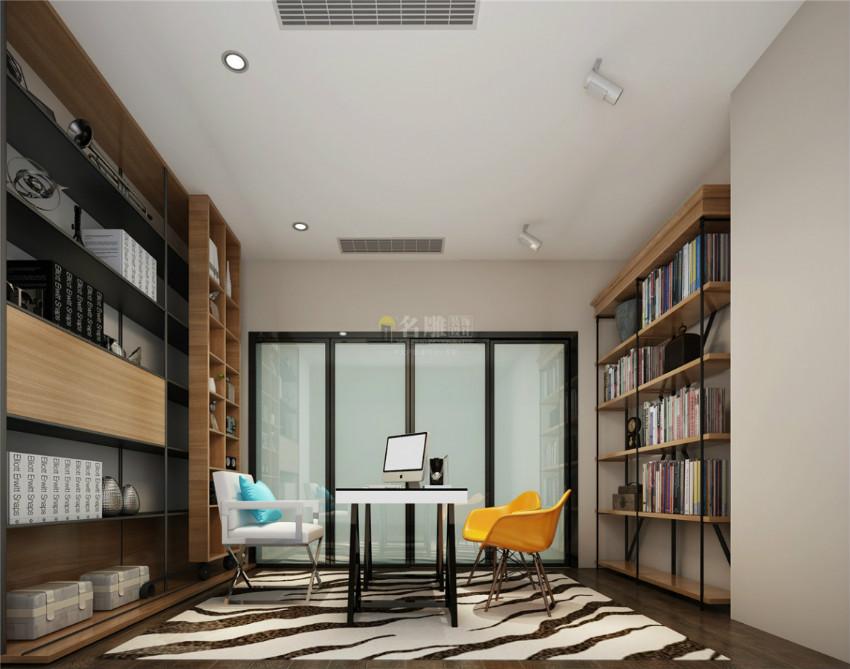 北歐現代風書房裝修