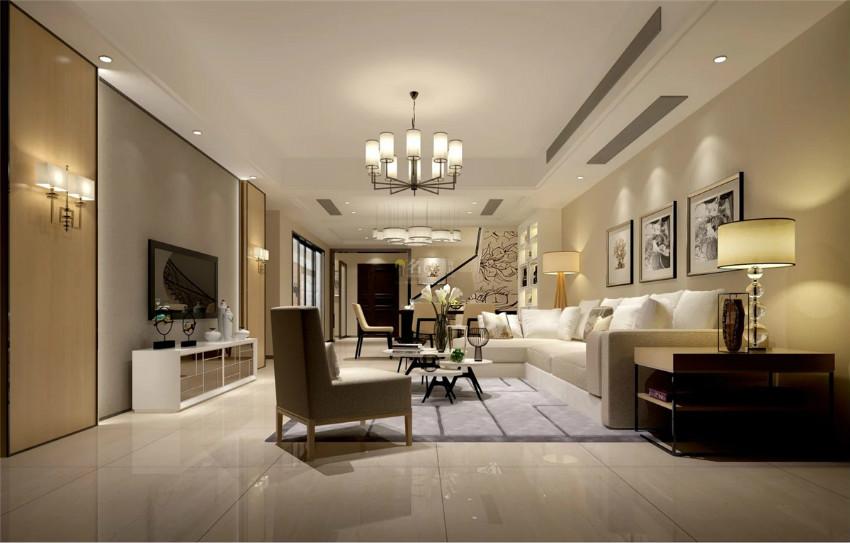 家裝設計公司客廳效果圖