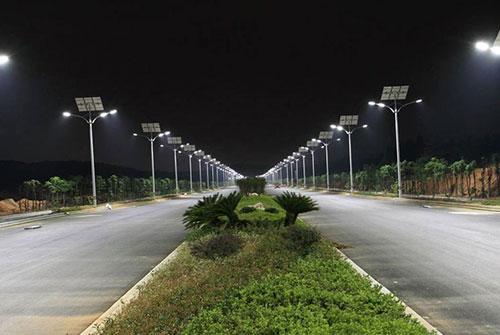 新余市创业大道太阳能路灯