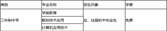 川北幼儿师范高等专科学校中专招生专业及学费