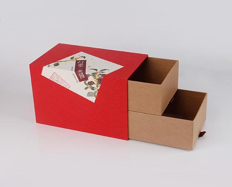 双层的茶叶抽屉盒