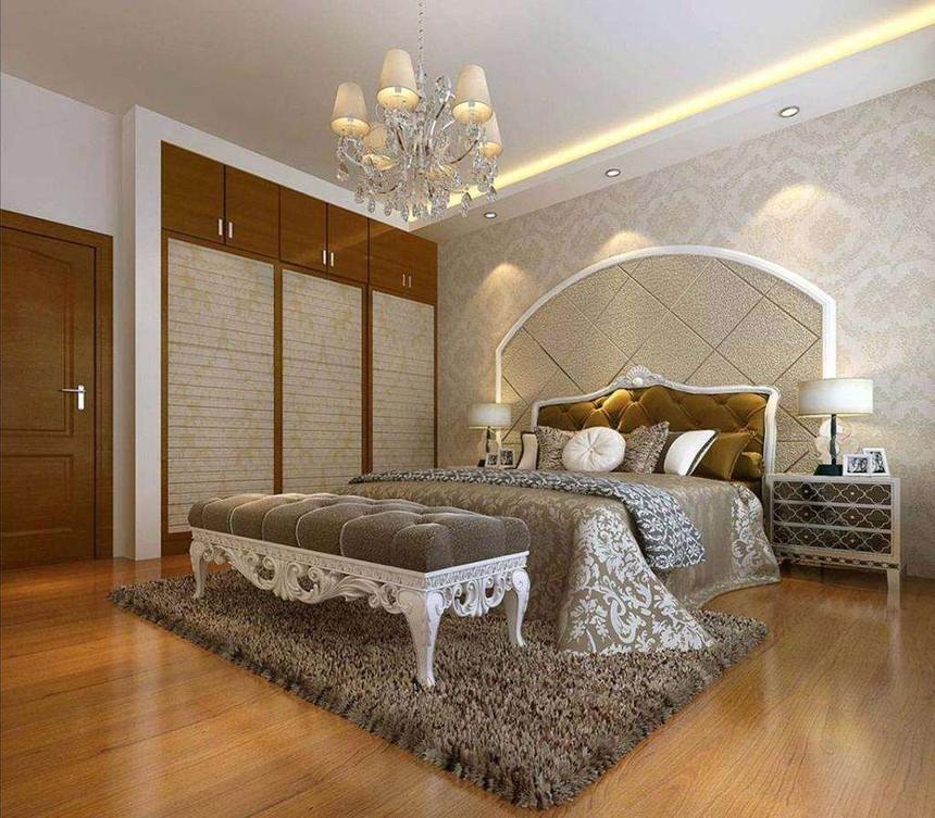 附图:铺设地板的卧室