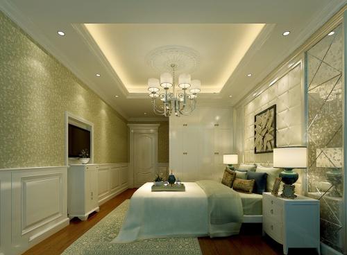 附图:墙纸装修的房间
