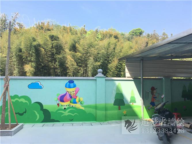 南安诗山镇前山小学墙绘作品